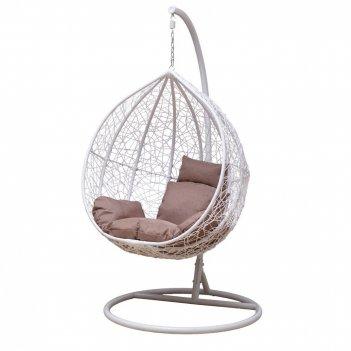 Напольное подвесное кресло gardenini gusto white, садовая мебель