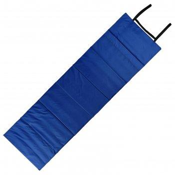 Коврик складной 170*51 см, цвет бирюзовый/василек