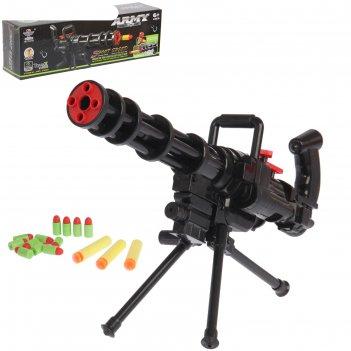 Автомат миниган, стреляет мягкими пулями