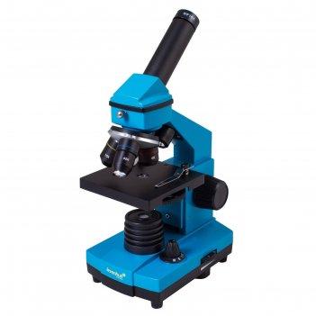 Микроскоп levenhuk rainbow 2l plus azure/лазурь
