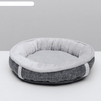 Лежанка лофт perseiline лф-0 круглая размер m 47 x 10 см, серый