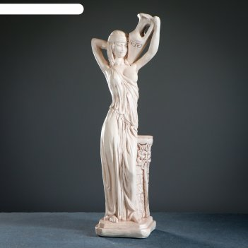 Фигура девушка с кувшином состаренная 16х20х58см