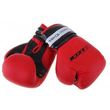 Перчатки боксерские, 10 унций, цвет: красный