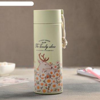 Бутылка 420 мл весна в лесу, цвет и рисунок микс
