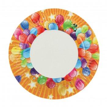 Тарелка с ламинацией шары 18 см