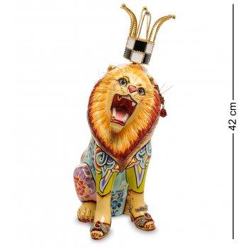 Tg-4054 статуэтка лев кларанс сред. (томас хоффман)