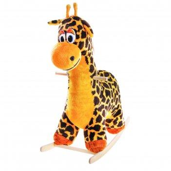 Мягкая качалка жираф