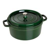Кокот круглый, объем: 5,2 л, диаметр: 26 см, материал: чугун, цвет: зелены