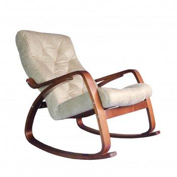 Кресло-качалка «гранд», искусственная замша, 1020 x 660 x 920 мм, цвет кре