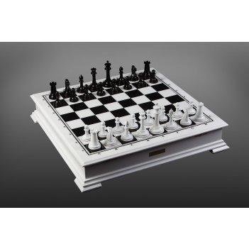 Шахматы стаунтон от карпова черно-белый из самшита
