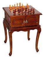 Шахматный стол с деревянными фигурками 52*52*67 см...