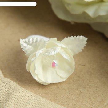 Резинка для волос пон-пон, с листочками, 2 см, микс