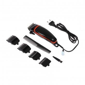 Машинка для стрижки energy en-735, 10 вт, 4 насадки, настройка длины, черн