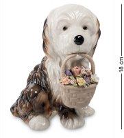 Cms-15/54 муз. фигурка собачка с цветами (pavone)