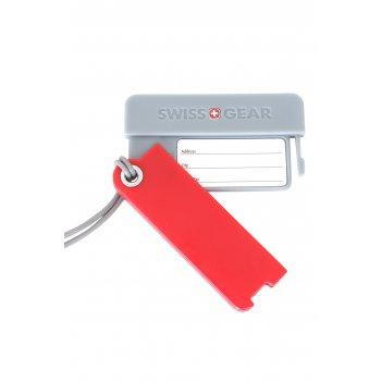 Бирка для багажа swissgear, 2 шт./упак., красная/серая, абс-пластик, 7,5 x