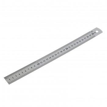 Линейка измерительная, 300 мм, металлическая// sparta (305065)