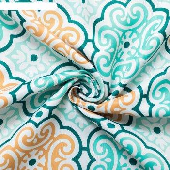 Ткань портьерная дамаск зеленый, ш.280 см, дл.71 м, пл. 210 г/м2, 100% п/э