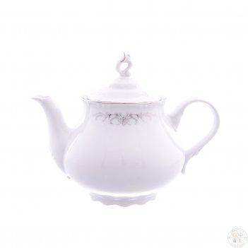 Чайник thun констанция серый орнамент отводка платина 1,2 л