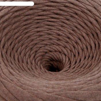 Пряжа трикотажная широкая 100м/350гр , ширина 7-9 мм (бежев. меланж)