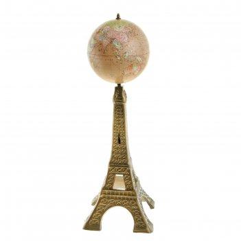 Глобус сувенирный на подставке эйфелева башня