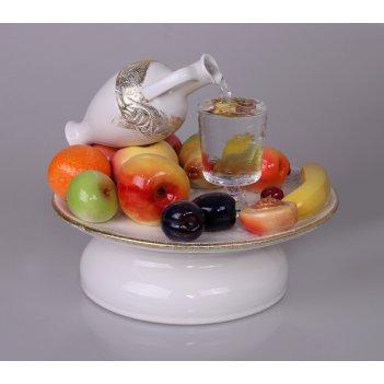 Настольный фонтан «натюрморт» белый