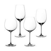 Набор из 4-х бокалов для красного/белого вина tasting set, материал: хруст