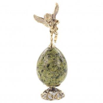 Сувенир ангел змеевик бронза 45х45х140 мм 225 гр.