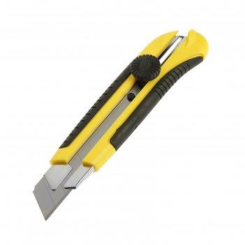 Нож универсальный tundra premium, прорезиненный корпус, винтовой фиксатор,