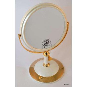 Зеркало* b68021 per/g wpearl&gold настольное 2-стор. 5-кр.у