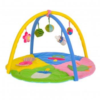 Развивающий коврик «малышкины радости», с дугами