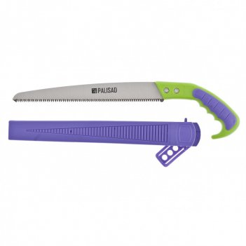 Ножовка садовая, 300 мм, 2-х компонентная рукоятка + ножны, подвес для поя