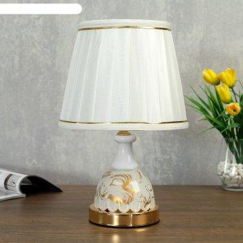 Лампа настольная с подсветкой 58087/1 1х40вт е27 золото 20х20х36 см