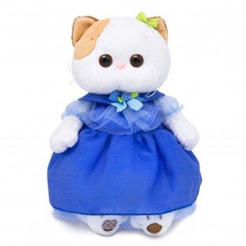 Мягкая игрушка «кошечка ли-ли» в синем платье, 27 см
