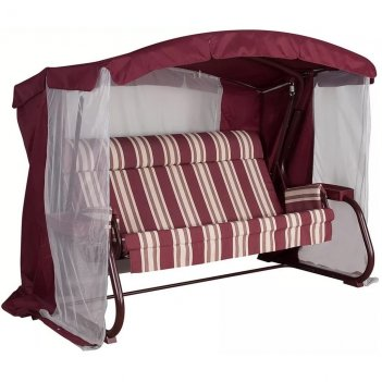 Качели summer suite milan premium bordo, садовая мебель