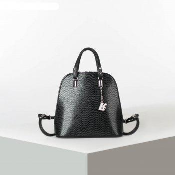 Рюкзак-сумка 1399с, 23*9*21, отд на молнии, н/карман, длин ремень,питон че