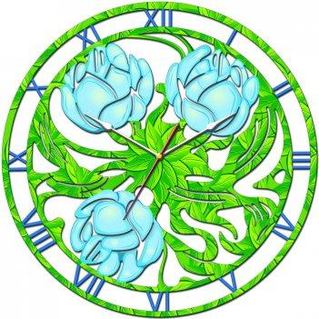 Часы настенные tiarella полевые цветы