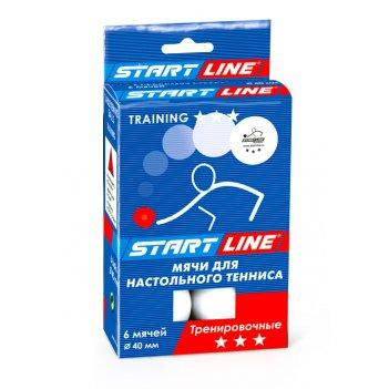 Мячи training для настольного тенниса, 6 мячей уп., белые