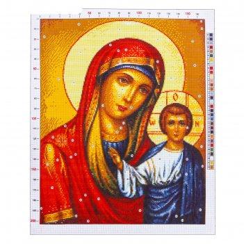 Канва для вышивания с рисунком «казанская божья матерь», 47 х 39 см