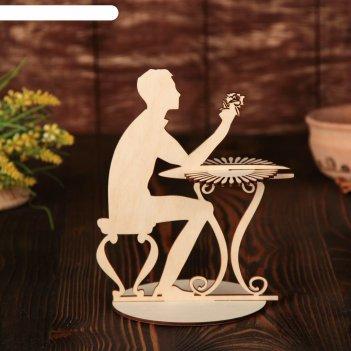 Салфетница «мужчина за столиком», 19x15,5x0,3 см