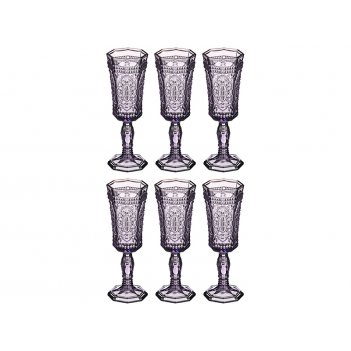 Набор бокалов для шампанского муар 125 мл. высот...