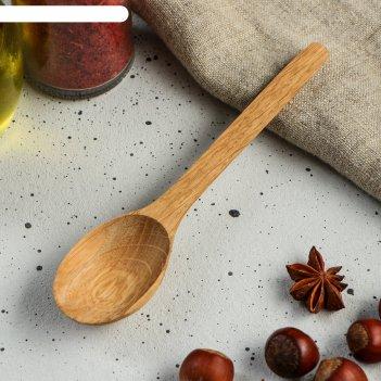 Ложка деревянная столовая, 16 х 4 см, массив дуба