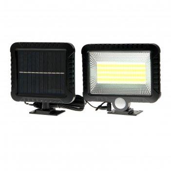 Прожектор светодиодный на выносной солнечной батарее 15 вт, 100 led, 6500к