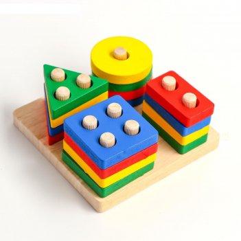 Детская развивающая пирамидка собери сам 11,5х11,5х5 см