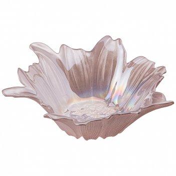 Блюдо глубокое/ваза для фруктов beauty pink 24см овки