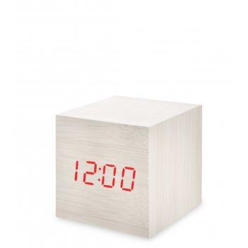 Ял-07-01/14 часы электронные мал. (белое дерево с красной подсветкой)