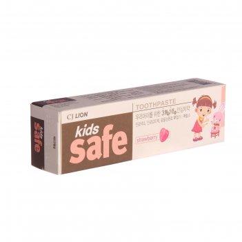 Зубная паста детская клубника kids safe, 90 г