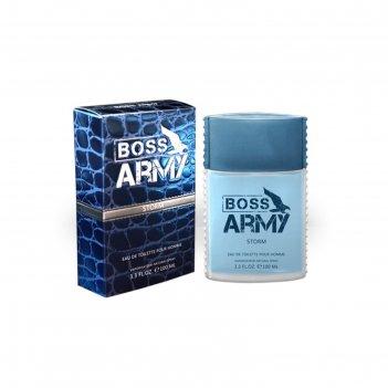 Туалетная вода мужская boss army storm, 100 мл