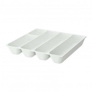 Лоток для столовых приборов, цвет белый варьера