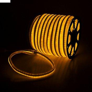 Гибкий неон, 12*24мм, 50 м, led/м-80-220v, желтый