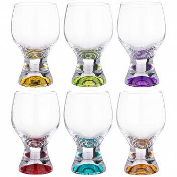 Набор бокалов для вина/воды из 6 шт. gina colors 340 мл